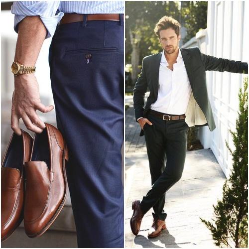 a283dc1bd41f1 Lembre-se de combinar sempre o cinto com o sapato em um look sofisticado