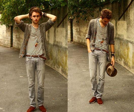 Cinto masculino em um look casual para o dia a dia