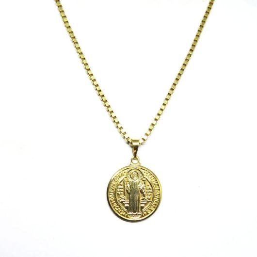 Estilo medalha para rapazes que gostam de corrente masculina com pingente