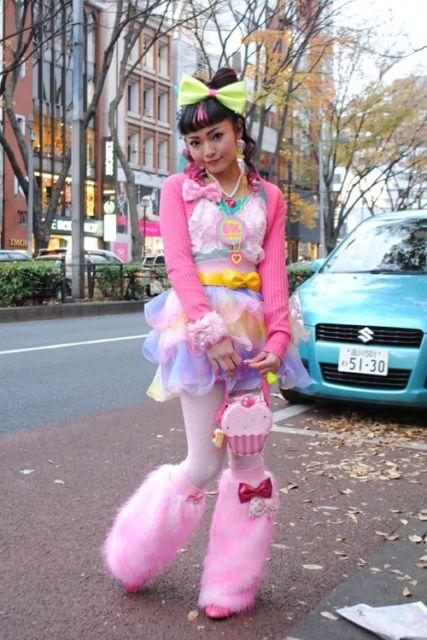 estilo kawaii rosa com sapato de pelúcia