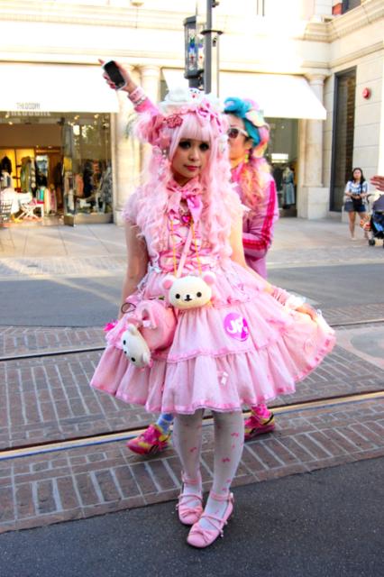 estilo kawaii menina com vestido