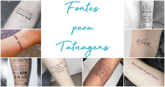Fontes para Tatuagens – As 45 Mais Usadas & Como Escolher a Sua!