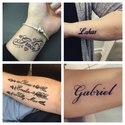 Tatuagem com Nomes – 100 Ideias e Estilos Incríveis para Tatuar!