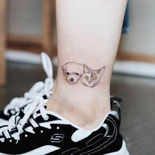 tattoo cão e gato