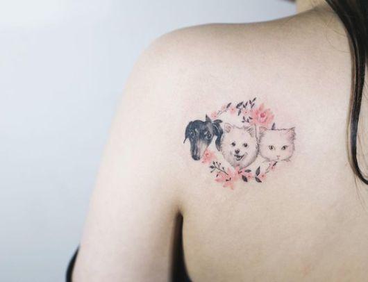 tatuagem com flores