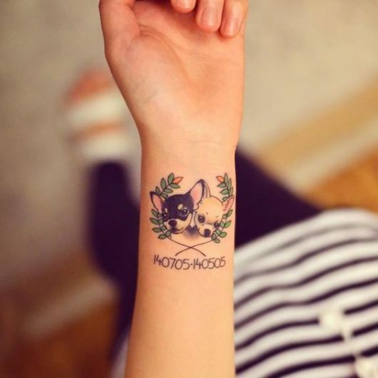 tatuagem delicada pulso