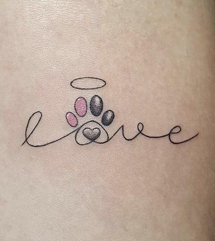 tatuagem criativa com palavra