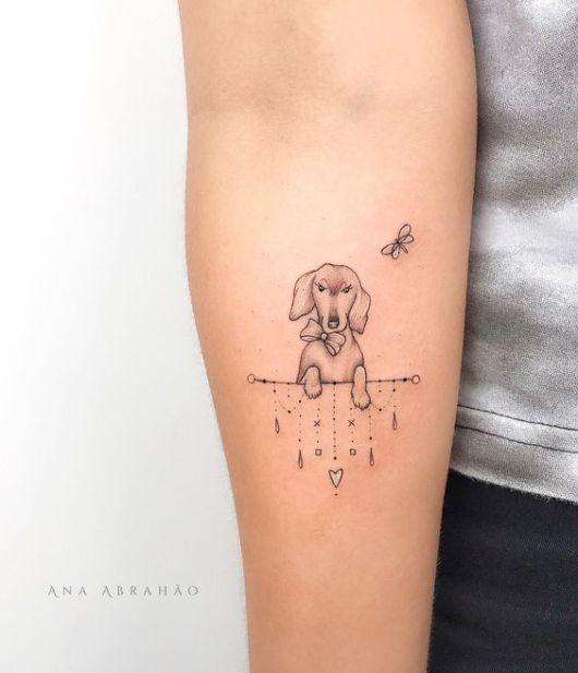 tattoo delicada salsicha