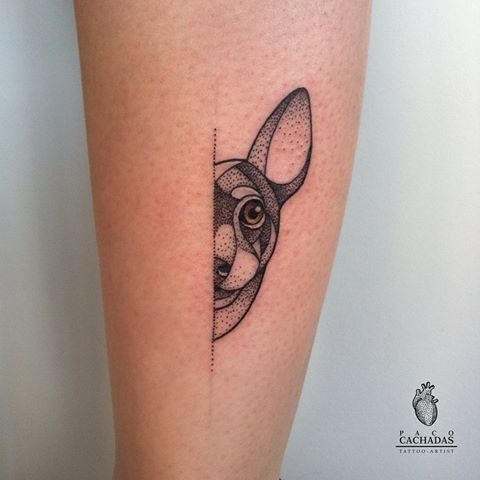 tatuagem moderna pinscher
