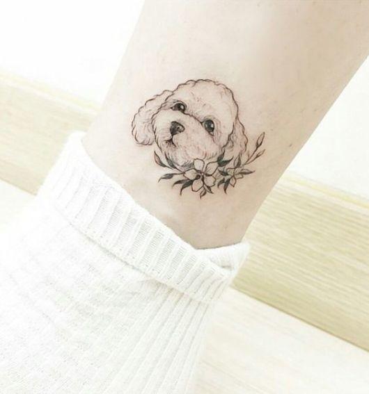 tatuagem Poodle delicada