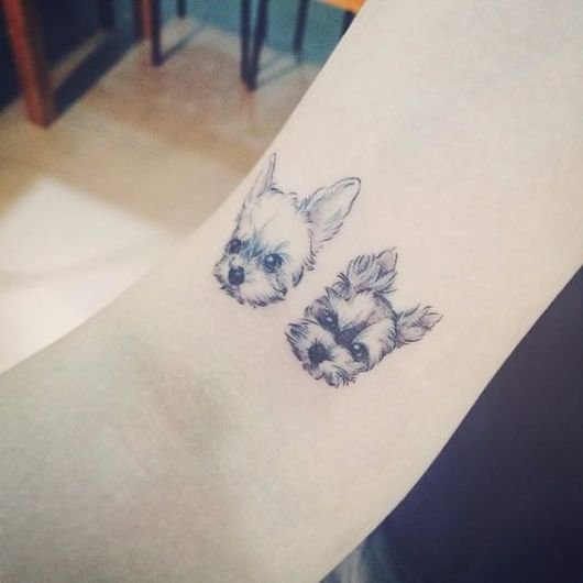 tatuagem delicada yorkshire