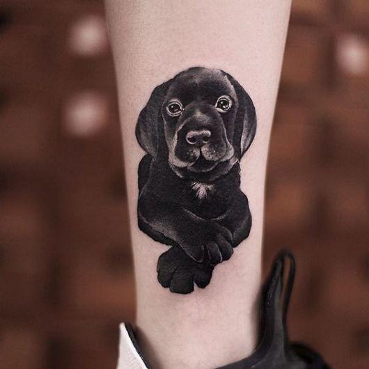 tatuagem de labrador