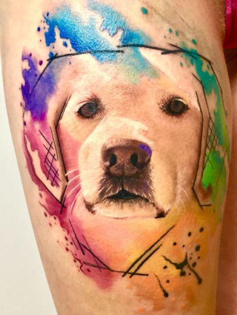tatuagem moderna labrador