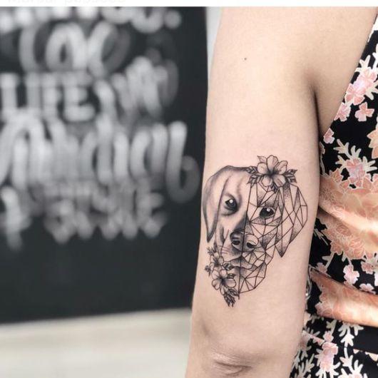 tatuagem criativa labrador