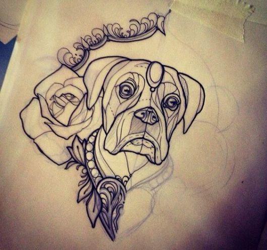 cachorro com rosa