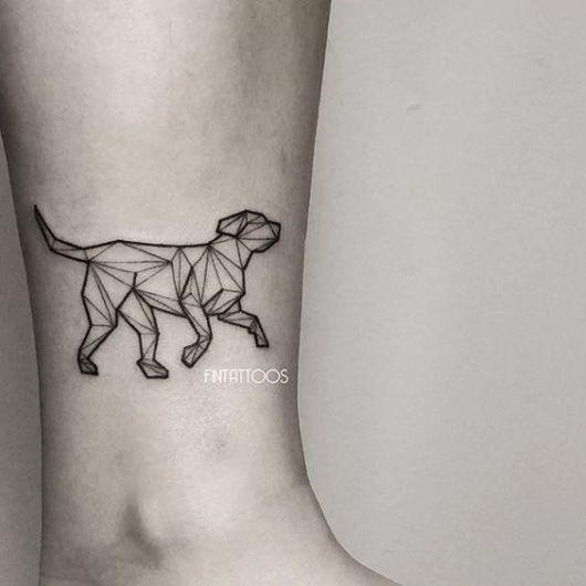 cachorro geométrico