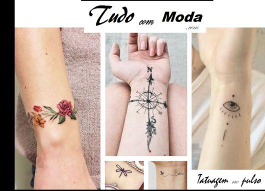 fotos de tatuagens femininas no pulso.