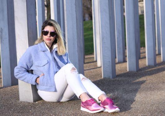 look com tênis pink