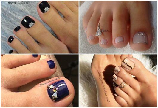 ideias de nail art com pedras
