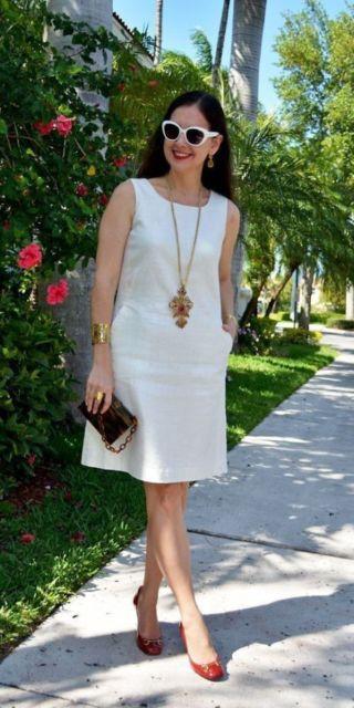 vestido branco senhora