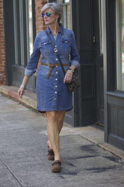 vestido jeans senhora