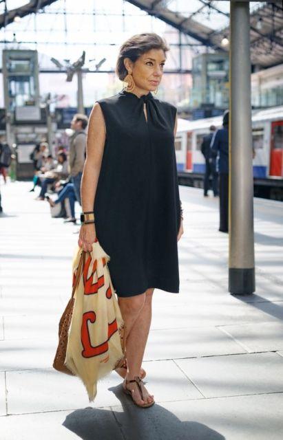 vestido preto senhora