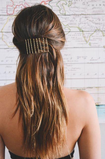 Grampo de cabelo simples.