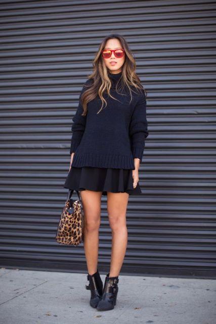 look com saia e suéter