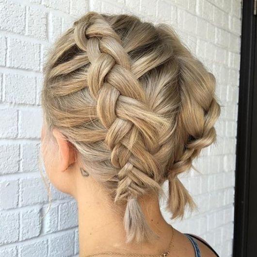 Tipos de trança: trança dupla em cabelo curto