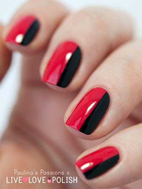 decoração em preto e vermelho