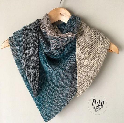 xale trinagular de lã