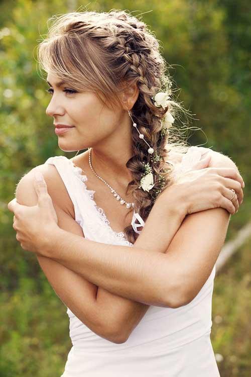 Arranjo de cabelo para noiva: em trança