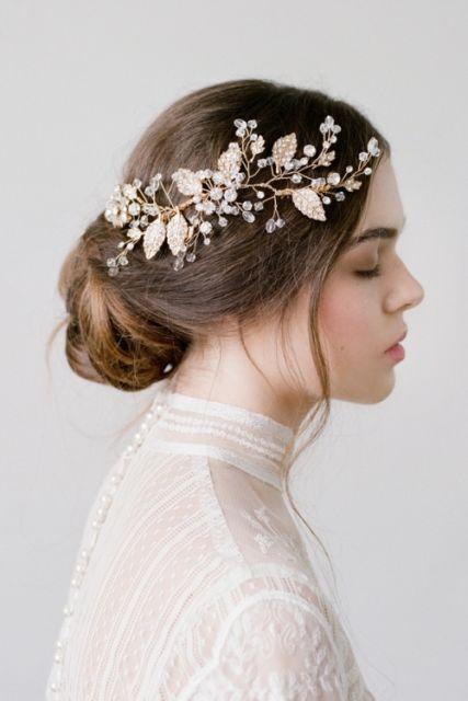 Arranjo de cabelo para noiva: estilo cascata