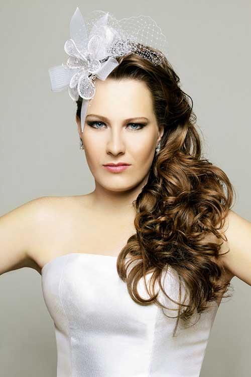 Arranjo de cabelo para noiva: branco