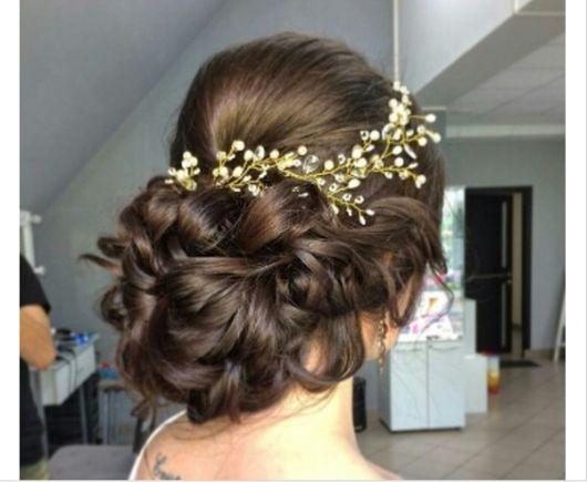 Arranjo de cabelo para noiva: com mosquitinhos
