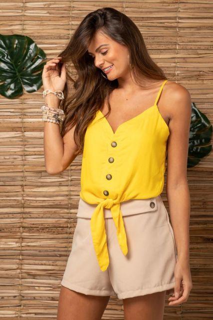look com blusa amarela