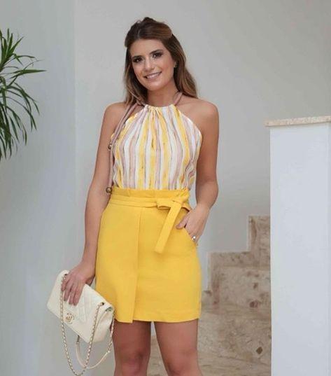 look com saia amarela