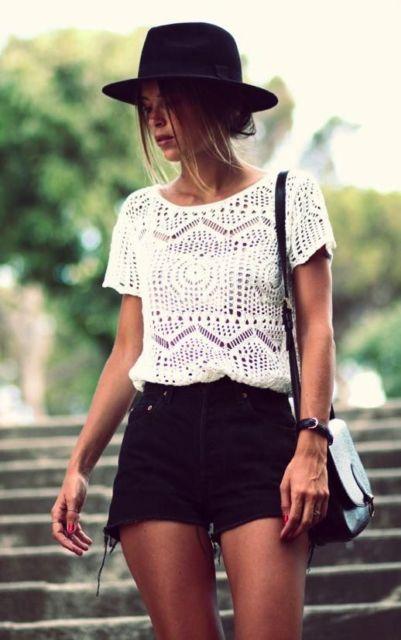 look com blusa de tricô