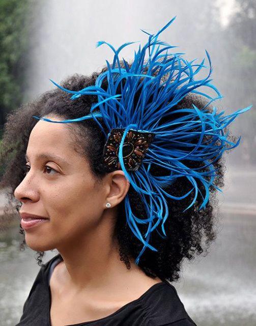 Enfeite de cabelo para carnaval.