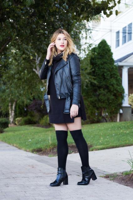 look vestido com jaqueta