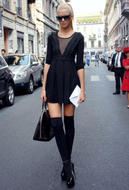 look com sapato de salto preto