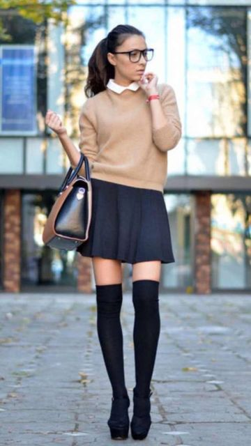 look saia com suéter