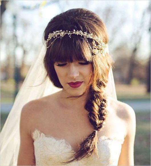 Penteados com franja: para casamento