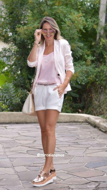 look com tênis rosé gold