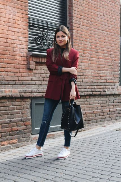 look com calça jeans skinny