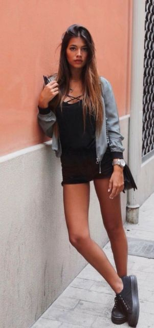 look short com tênis