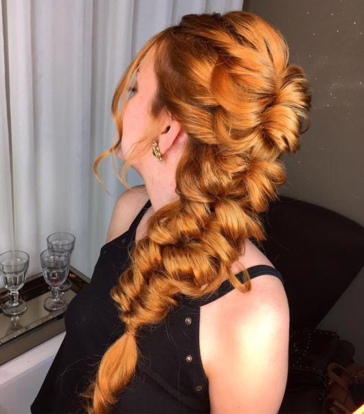 penteado cabelo ruivo