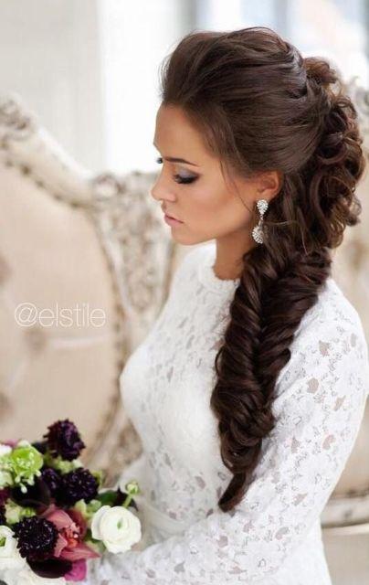penteado lateral para noiva