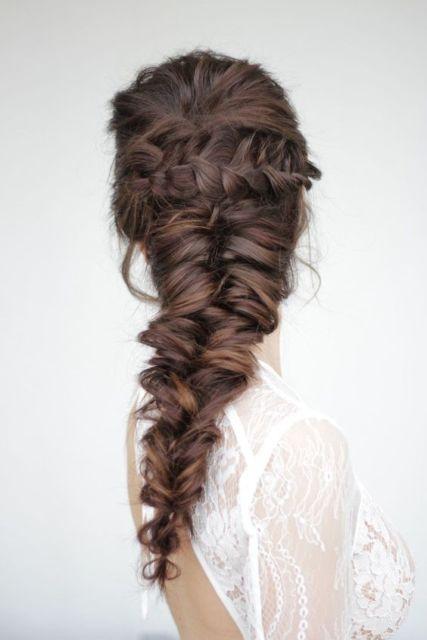 penteado moderno para festas