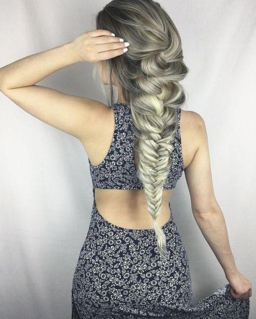 penteado para cabelo loiro